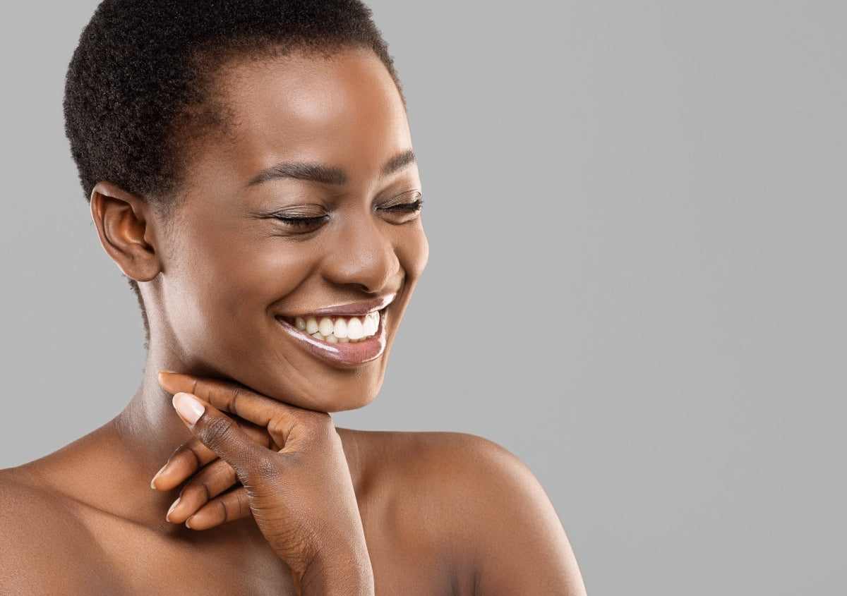 woman with natural skincare