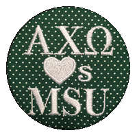 Green & White Spartans - Alpha Chi Omega