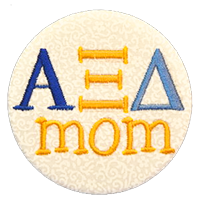Alpha Xi Delta - White Scroll Mom