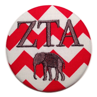 Crimson & White Tide - Red Chevron Elephant