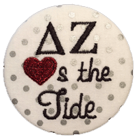 Crimson & White Tide - Metallic Silver Polka Dot