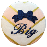 Sorority Bow Big - Pink & Gold Chevron