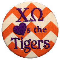Orange & Purple Tigers - Orange Chevron