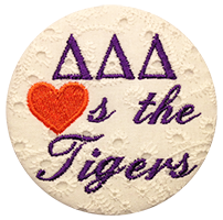 Orange & Purple Tigers - White Eyelet