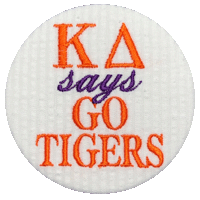 Orange & Purple Tigers - White seersucker GO TIGERS