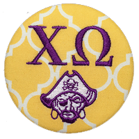 Purple & Gold Pirates - Chi Omega Quatrefoil