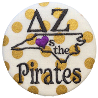 Purple & Gold Pirates - Gold Polka Dot