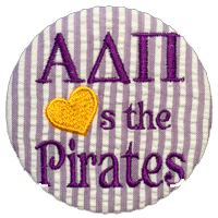 Purple & Gold Pirates - Purple Seersucker