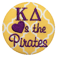 Purple & Gold Pirates - Yellow Quatrefoil