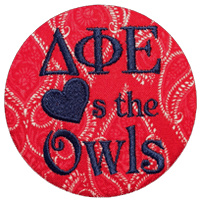 Blue & Red Owls - Red Paisley