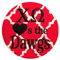 Red & Black Bulldogs - Quatrefoil