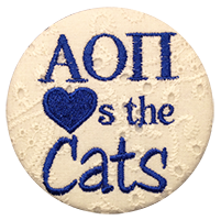 Royal Blue & White Cats - White Eyelet