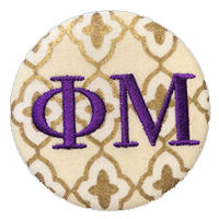 Purple & Gold - Metallic Quatrefoil