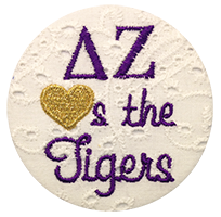 Purple & Gold Tigers - White Eyelet