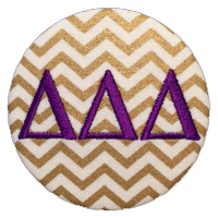 Purple & Gold - Metallic Chevron