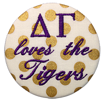 Purple & Gold Tigers- Metallic Polka Dot