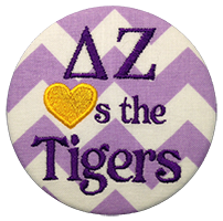 Purple & Gold Tigers - Purple Chevron