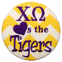 Purple & Gold Tigers - Yellow Chevron