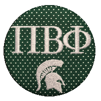 Green & White Spartans - Green Mini Dot