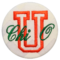 Orange & Green Canes - White Chevron