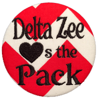Red, White & Black Wolfpack- Delta Zeta Chevron