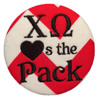 Red, White & Black Wolfpack- Chi Omega Chevron