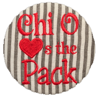 Red, White & Black Wolfpack- Chi Omega Seersucker