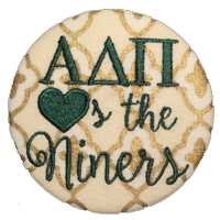 Green & White Niners - Metallic Quatrefoil