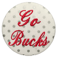 Scarlet & Grey - Metallic Silver Dot Bucks