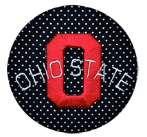 Ohio State Buckeyes - Black Micro Dot