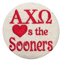 Crimson & Cream Sooners - White Eyelet