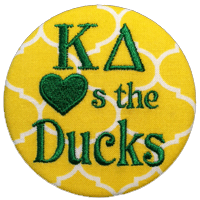 Green & Yellow Ducks - Quatrefoil