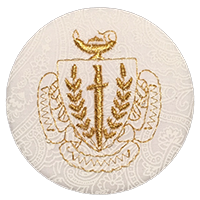 Panhellenic Crest - White Paisley
