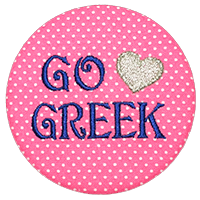 Go Greek - Pink Polka Dot