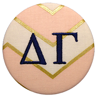 All Sororities - Pink & Gold Chevron