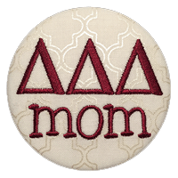 Maroon & White - Sorority Mom