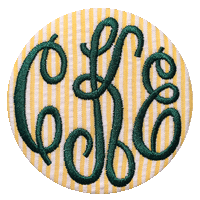 Monogrammed Button - Seersucker