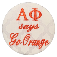 Orange & White - Quatrefoil