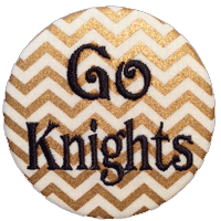 Black & Gold - Chevron Go Knights