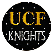 UCF - Black mini dot Knights