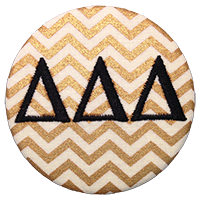 Black & Gold - Metallic Gold Chevron