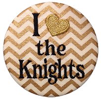 Black & Gold - Metallic Chevron Knights