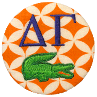 Orange & Blue - Orange Diamond Gator