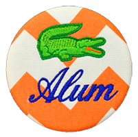 Orange & Blue - Chevron Gator Alum