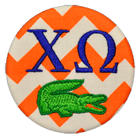 Orange & Blue - Chevron Gator