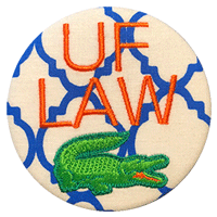 Orange & Blue - Quatrefoil Law Gator