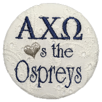 Navy & Grey Ospreys- Alpha Chi Omega Eyelet