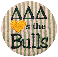 Green & Gold Bulls - Green Seersucker