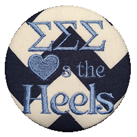 Light Blue & White Heels - Tri Sig Chevron