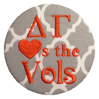 Orange & White Vols - Grey Quatrefoil